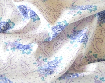 lavender floral fabric  fabric french floral patchwork fabric quilting fabric  pillowcases antique lavender flowers  201