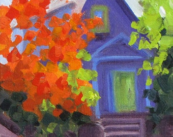 Fall in the Neighborhood - Quick Sketch
