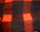 Custom Order for Mari - Medium Coat, Red and Black Buffalo Check, Valentine's Day Red Hearts Bandana