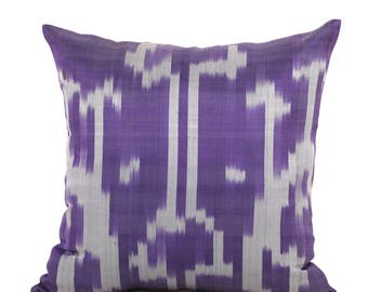 19 x 19 Pillow Cover Ikat Pillow Cover Old Ikat Pillow Cover Throw Pillow Decorative Pillow FAST SHIPMENT with ups or fedex - 09218