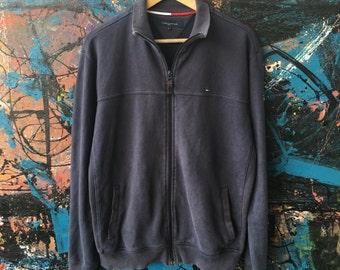 20 Vintage Tommy Hilfiger Sport Womens L Trainer Track training Hip hop Sweater Bomber Jacket