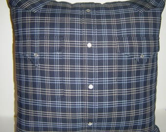 Memory Pillow from Up-Cycled Shirts and Jeans