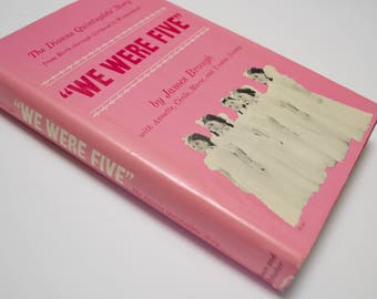 """1965 """"We Were Five"""" The Dionne Quintuplets' story by James Brough, first printing"""