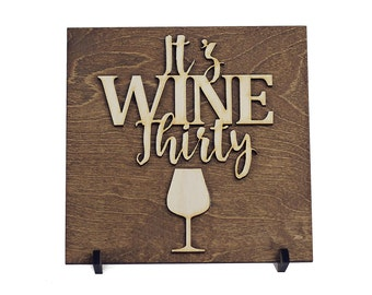 Gifts for Her - Gifts Under 15 - Gifts for Wine Lover - Wine Bar Sign - Wood Sign - Wine Gift  - Birthday Gift - Kitchen Decor - Christmas
