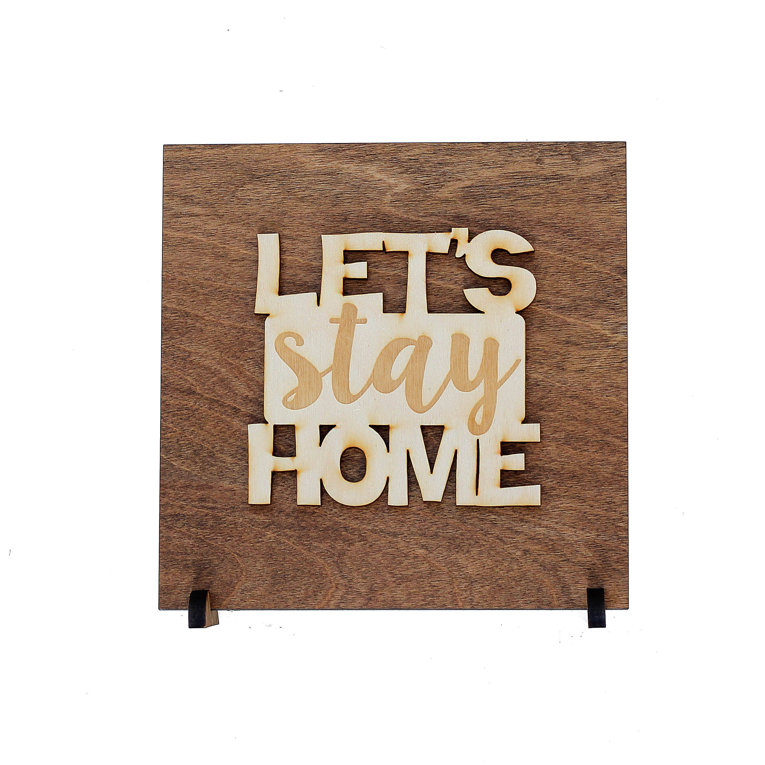 Let 39 s stay home sign new home gift introverts for New home sign