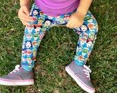 Baby Frida Leggings: Toddler Boy Toddler Girl, Halloween leggings, dia de los muertos, skeleton, hipster,