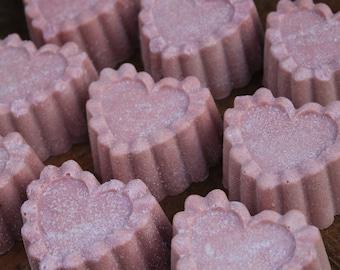 on SALE | SEA SALT Soap | Heart Shaped Soap | Black Raspberry Vanilla | Cold Process Soap | Salt Bar | Spa Soap