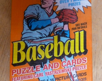 1990 Donruss Baseball sealed pack Carl Yastrezmski puzzle 3 pieces and 16 cards