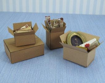 Gaël  Miniature Aticc box  1 :12 Dollhouse Miniature Home Decor Accessory. Handmade miniatures