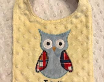 Yellow Owl bib