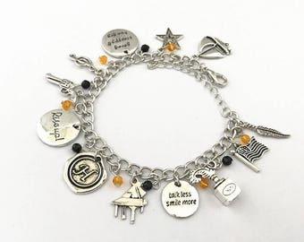 Hamilton inspired charm bracelet