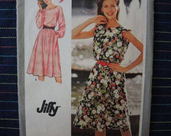 vintage 1980s simplicity sewing pattern 9444 misses jiffy pullover dress size 14