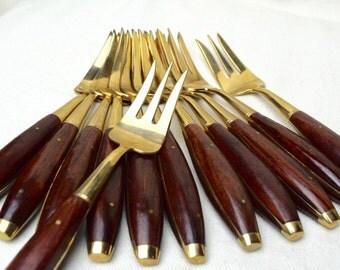 Vintage Thai bronze forks…salad forks…breakfast forks…dessert forks…set of 12.
