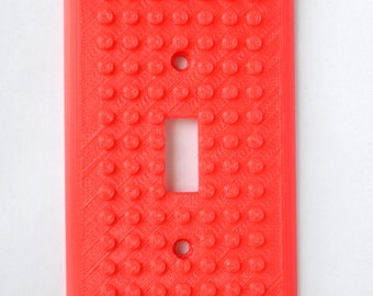 3D Printed Brick Builder Style Light Switch Cover - Single, Double or Triple switch