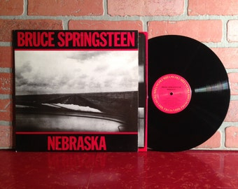 Bruce Springsteen Nebraska Vinyl Record Album LP 1982 New Jersey Atlantic City Classic Rock N Roll Pop Music Vintage