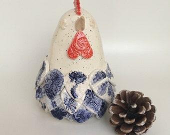 Mildred the ceramic chicken