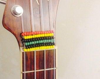Rasta string cover set- reggae- Ukulele accessories-Ukulele decoration- jewelry for instruments