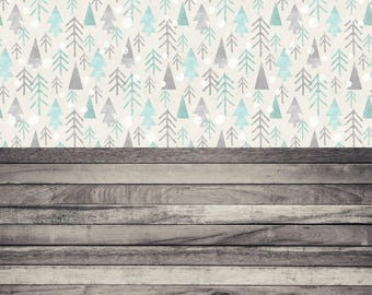 Whimsical Woods and Willow Wood - Vinyl Photography  Backdrop Photo Prop