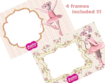 Best collection of 50 ANGELINA BALLERINA Clipart - 50 High Quality Images - 50 Angelina Ballerina Graphics - Numbers and Frames - CLIPART