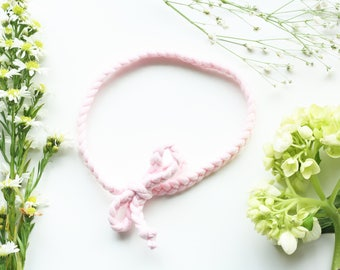Braided Bow Jersey Knit Headband -Light Pink or Customize Your Colors