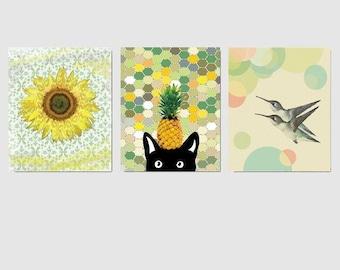 Nursery Art Prints, Nursery Decor, Nursery Wall Art, Kids Wall Art, Set of 3 Prints, 8x10in
