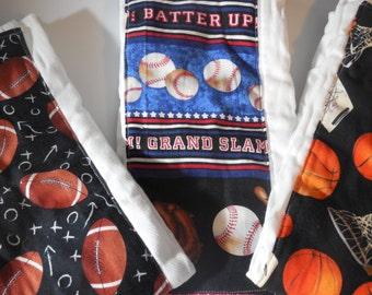 Sports Set of Burp Cloths