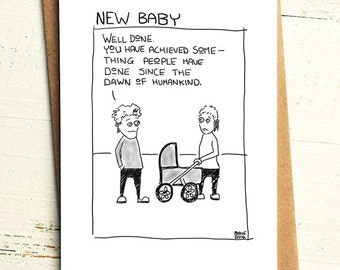 Funny New Baby Card - Brutally Honest Cards | Offensive | Offensive New Baby |