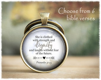 Bible Verse Keychain • Inspirational Gifts • Religious Gift • Religious Verse Keyring • Philippians
