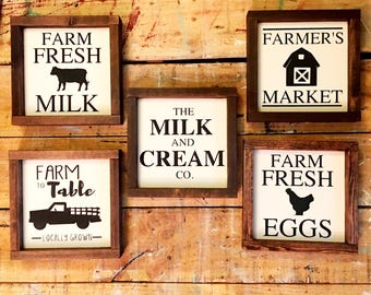 Farmhouse painted wood signs