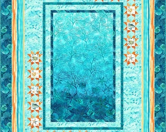 Among the Stars Quilt Pattern. Northcott, Ocean Tides