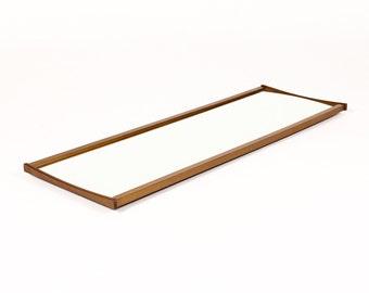 Danish Modern / Mid Century Teak Mirror - Bow Edge