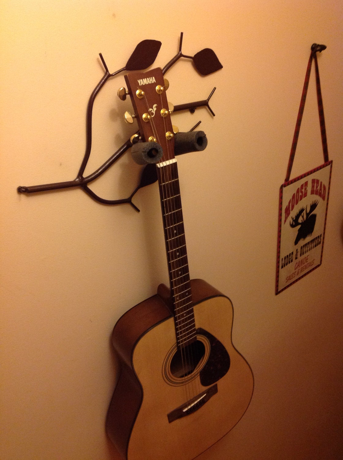 A Pair Of Branch Shaped Single Guitar Holder Stand Musical Instrument Rack