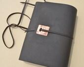 Leather Bound Custom Order Sketchbook Landscape Journal with Pocket Reserved for Kendra (597)