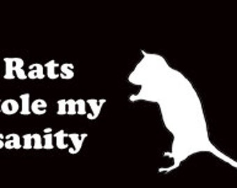 Rats Stole My Sanity Vinyl Decal