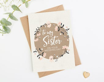 Sister Wedding Day Card