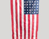 Vintage American Flag 3x5 Cotton Stars and Stripes