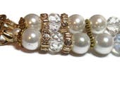 Pearl and Gold Beaded Apple Watch Band - BeadsnTime - Feminine Apple Watch Band - Gold Apple Watch Band - 38 mm or 42 mm Apple Watch Band