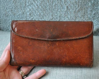 Coach Water Buffalo Leather Trifold Wallet and Checkbook Cover