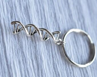 Biolojewelry - DNA Strand Double Helix Science Biology Keychain