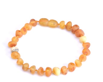 Baltic Amber Teething Bracelet - Anklet for Baby - Safety Knotted - Special Price