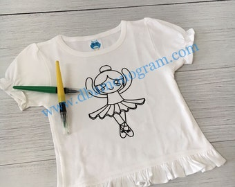 Paint or Color your Own Coloring Shirts