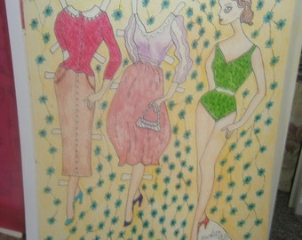 Barbaralla Paper Doll Set