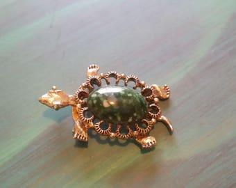 Vintage Turtle/Tortoise Brooch - Gerrys