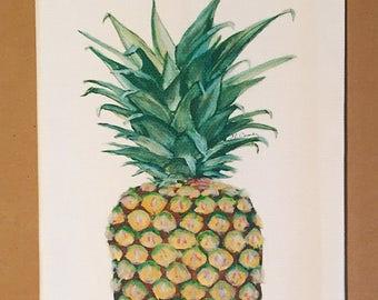 Pineapple Cotton Huck Kitchen Towel
