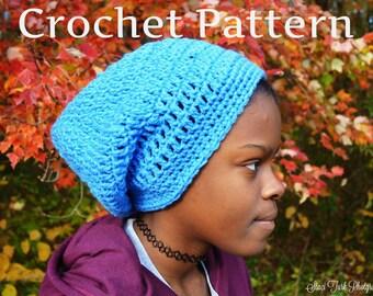 Slouchy Hat Pattern - Crochet Hat Pattern - Adult Hat Pattern - Slouch Hat Pattern - Beanie Hat Pattern - Beanie Pattern - Boho Hat Pattern