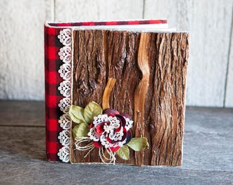 rustic 4x6 photos wedding album lumberjack photo album buffalo plaid photo album farmhouse - 4x6 Photo Albums