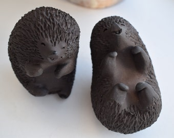 Hedgehogs, ceramic figurines, Ellen Karlsen, HAK, Herman Kahler