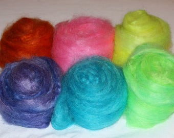 Mohair Blend Sampler Pack 12oz 90/10 Fine Mohair with Fine Wool Top