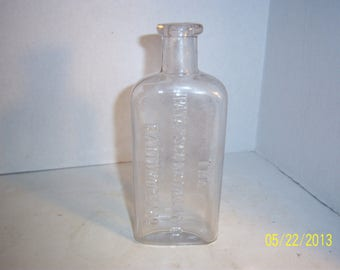 1890's Patapscgo Distilling Co Baltimore, MD  6 1/2 inch tall clear 1/2 Pint  Flask Bottle