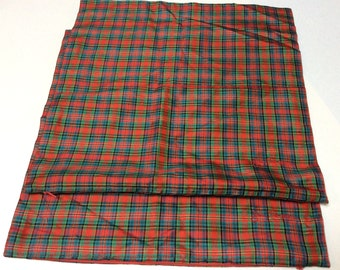 Vintage Jim Thompson Silk Plaid Pillowcases, Thai Silk Pillow Cases, Set of Two, Lovely for Christmas, Mint Condition